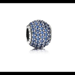 Pandora Blue Pave Stone Charm